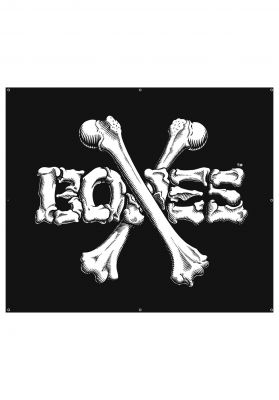 Bones Wheels Cross Bones Banner 36""