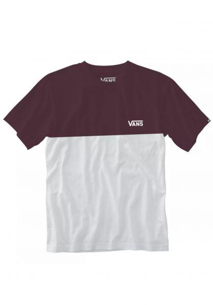 Vans T-Shirts Colorblock white-portroyale vorderansicht 0397884