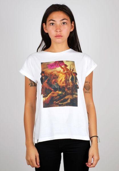 Dedicated T-Shirts Visby Pink Revolution white vorderansicht 0398680