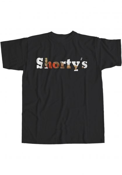 Shortys T-Shirts Rosa Long black vorderansicht 0323885