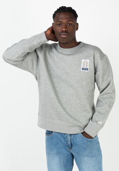 Nike SB Sweatshirts und Pullover Stripes darkgreyheather-white vorderansicht 0422916