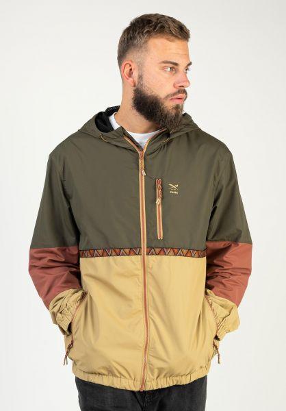 iriedaily Windbreaker Nomadic Hood Jacket olive vorderansicht 0504679
