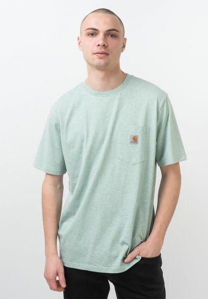 Carhartt WIP T-Shirts Pocket zolaheather vorderansicht 0393365