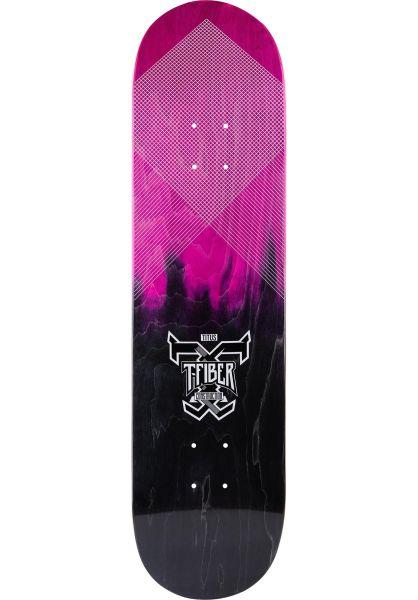 TITUS Skateboard Decks Colour Fade Logo T-Fiber pink-black vorderansicht 0261206