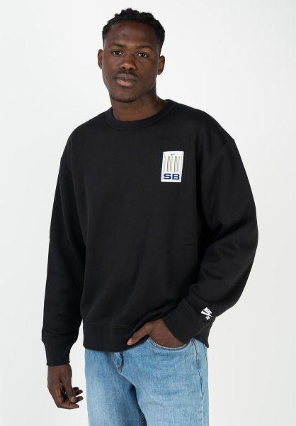Nike SB Sweatshirts und Pullover Stripes black-white vorderansicht 0422916
