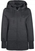 Rules Zip-Hoodies Lambda Girls darkgreymottled Vorderansicht
