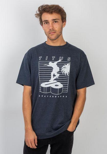 TITUS T-Shirts Merthan deepnavymottled vorderansicht 0399233