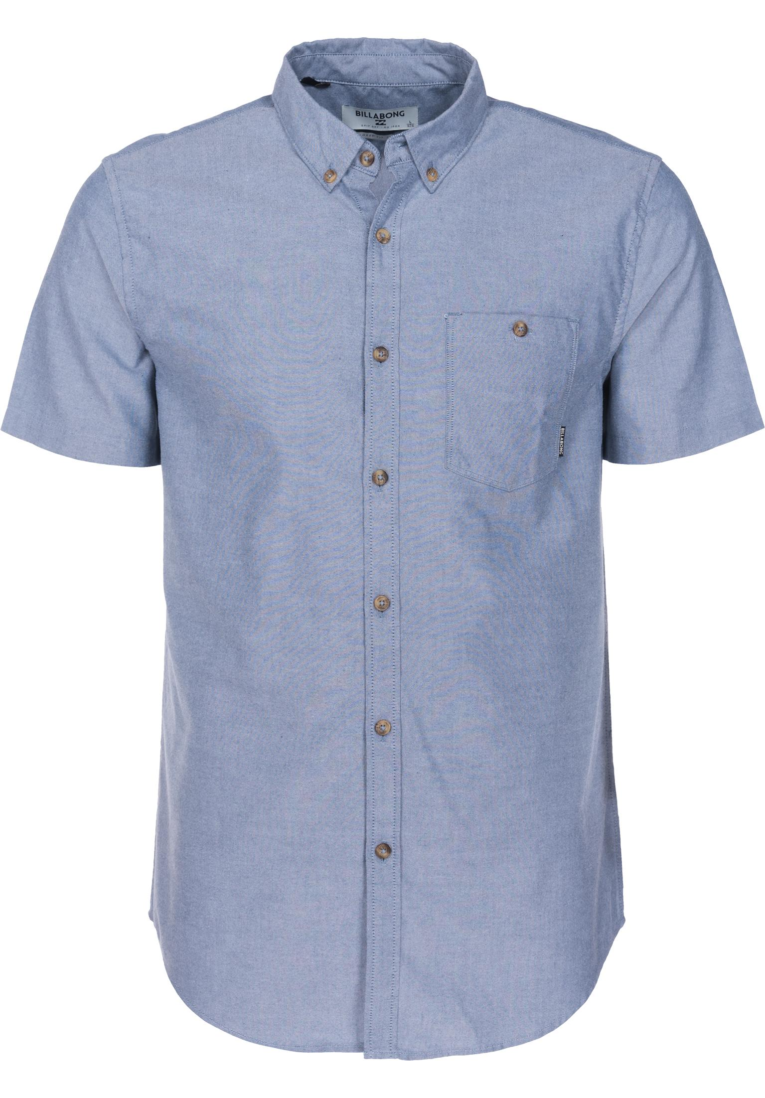 billabong hemden kurzarm all day oxford blue vorderansicht jpg