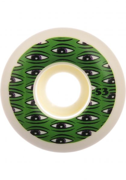 Toy-Machine Rollen All Seeing 100A white-green vorderansicht 0134854