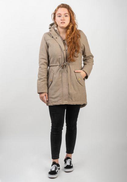 Ragwear Winterjacken Elba Coat A beige vorderansicht 0250088