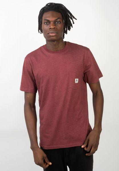 Element T-Shirts Basic Pocket Label portheather vorderansicht 0398847