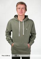 TITUS-Hoodies-Uni-Hood-olive-Rueckenansicht