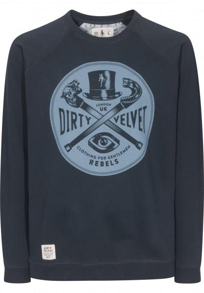 Dirty Velvet Sweatshirts und Pullover Rebel Crest darkcharcoal Vorderansicht