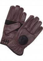 Loser-Machine Handschuhe Deathgrip brown Vorderansicht