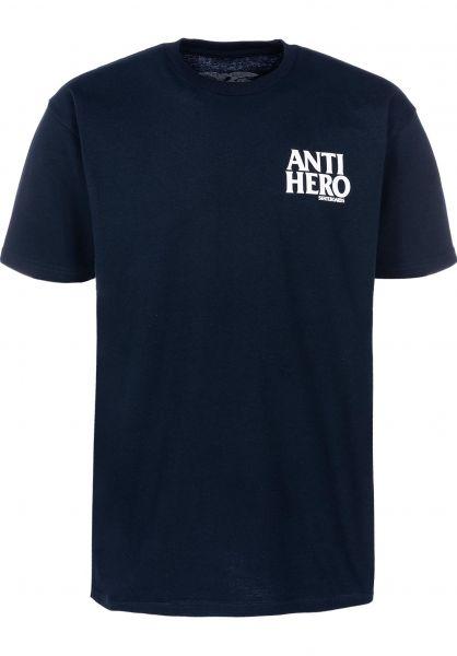 Anti-Hero T-Shirts Lil Blackhero navy-white vorderansicht 0397777
