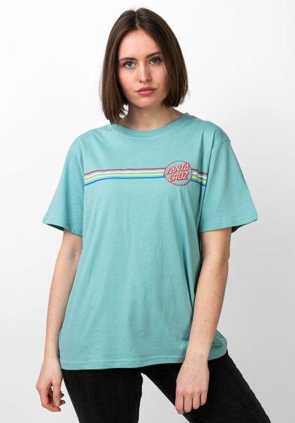 Santa-Cruz T-Shirts Opus Dot Stripes mineralblue vorderansicht 0321207