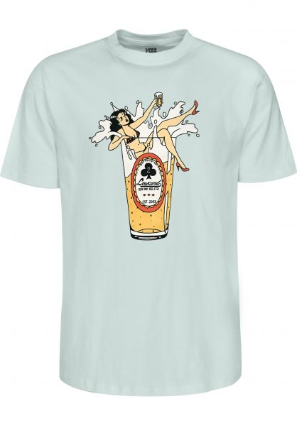 Lowcard T-Shirts Dirty Beer teal vorderansicht 0399586