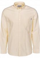 Carhartt WIP Hemden langarm Button Down Pocket citrine Vorderansicht