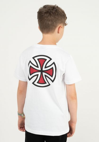 Independent T-Shirts Youth Bar Cross white vorderansicht 0321691