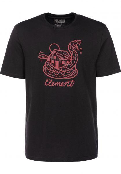 Element T-Shirts Rattle offblack Vorderansicht