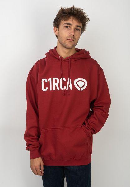 C1RCA Hoodies Din Icon brickred vorderansicht 0444454