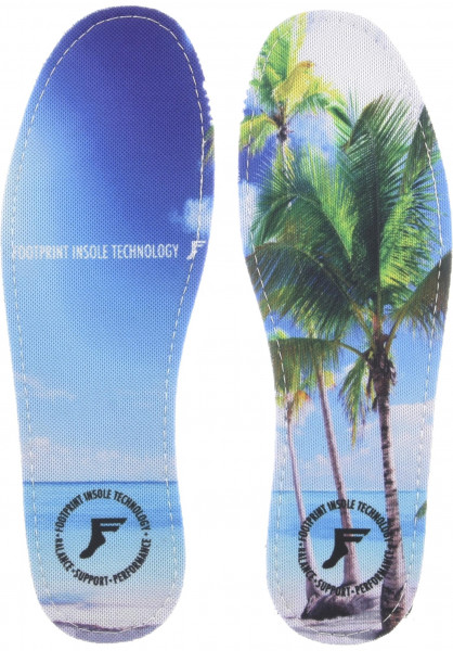 Footprint Insoles Einlegesohlen Kingfoam Hi Profile Beach multicolored Vorderansicht