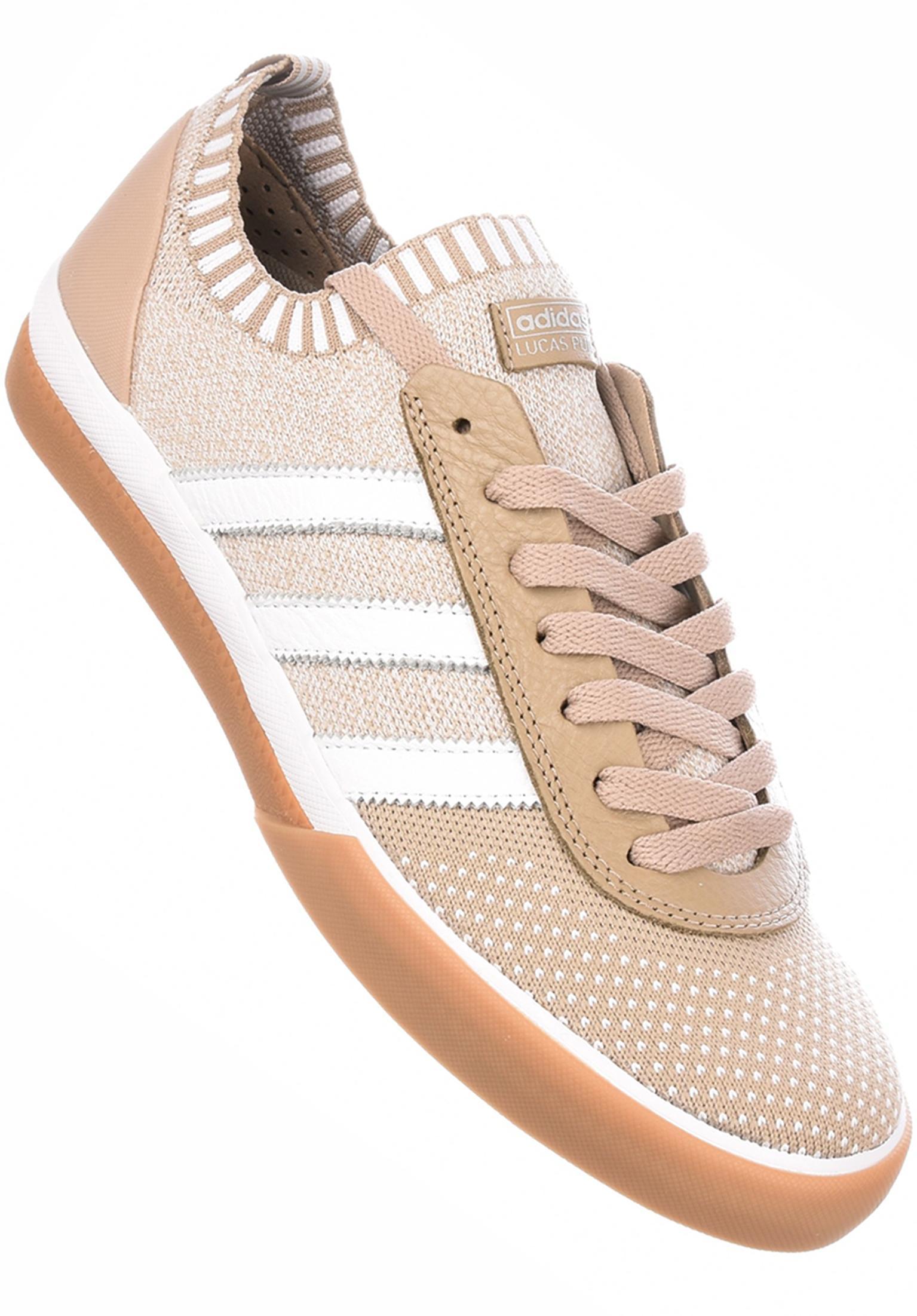 Lucas Premiere Primeknit adidas-skateboarding All Shoes in khaki for Men  d71eb9295