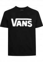 Vans-T-Shirts-Classic-Kids-black-white-Vorderansicht