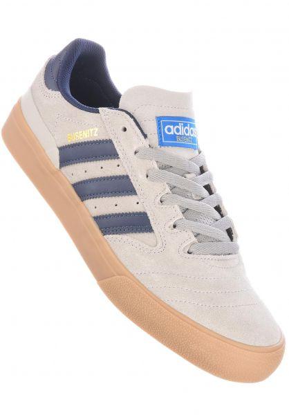 adidas-skateboarding Alle Schuhe Busenitz Vulc II grey-navy-gum vorderansicht 0604761