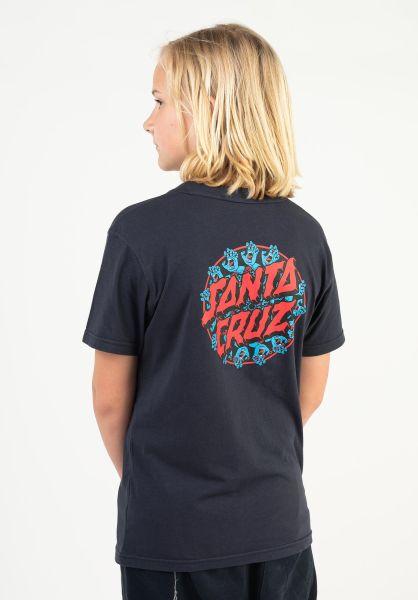 Santa-Cruz T-Shirts Youth Handy Dot darknavy vorderansicht 0323317