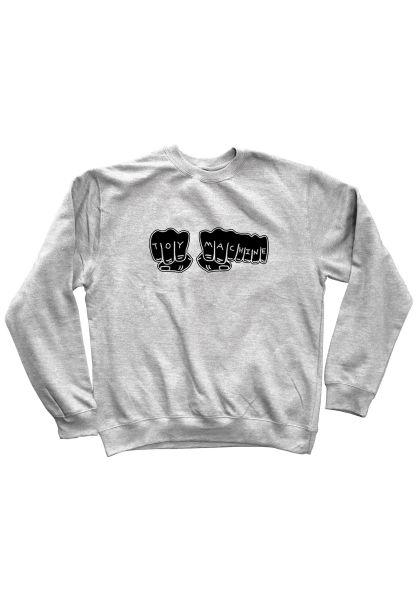 Toy-Machine Sweatshirts und Pullover Fists 2019 grey vorderansicht 0422707