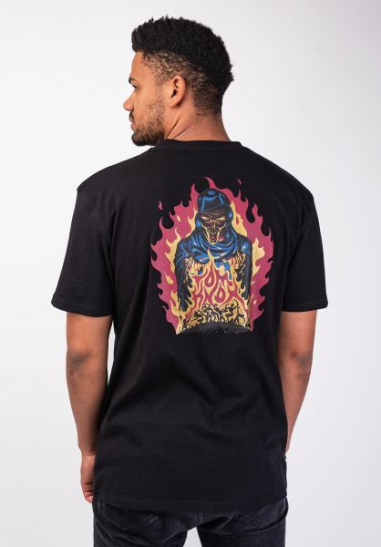 Santa-Cruz T-Shirts Knox Firepit black vorderansicht 0399812