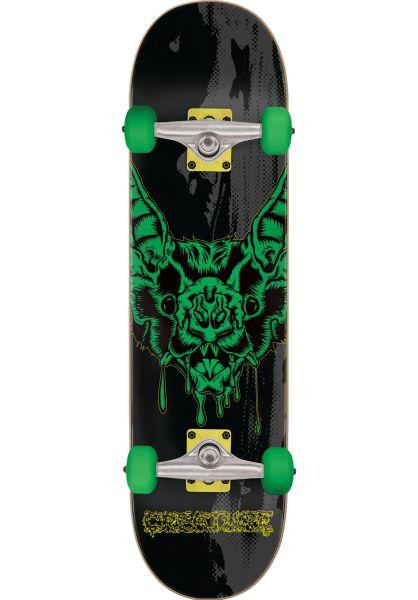 Creature Skateboard komplett Dweller Full black-green vorderansicht 0162417
