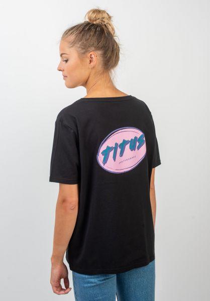 TITUS T-Shirts Karica-Backprint black vorderansicht 0399293