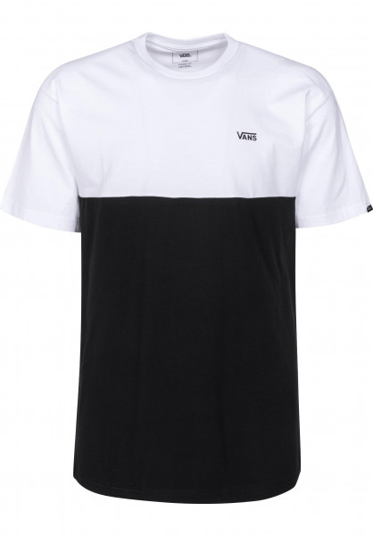 Vans T-Shirts Colorblock white-black Vorderansicht