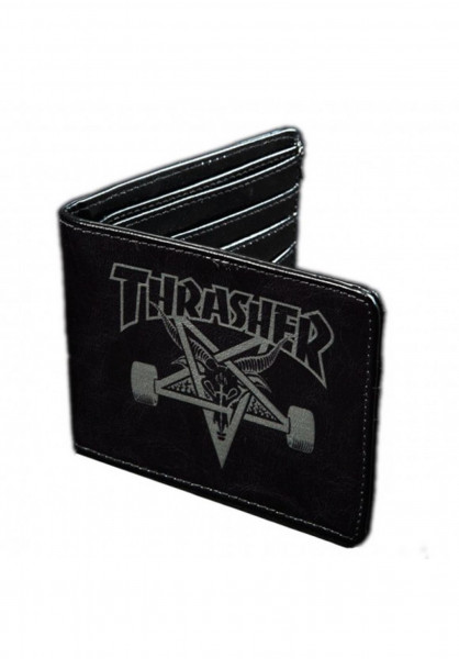 Thrasher Portemonnaie Skate Goat Leather black Vorderansicht