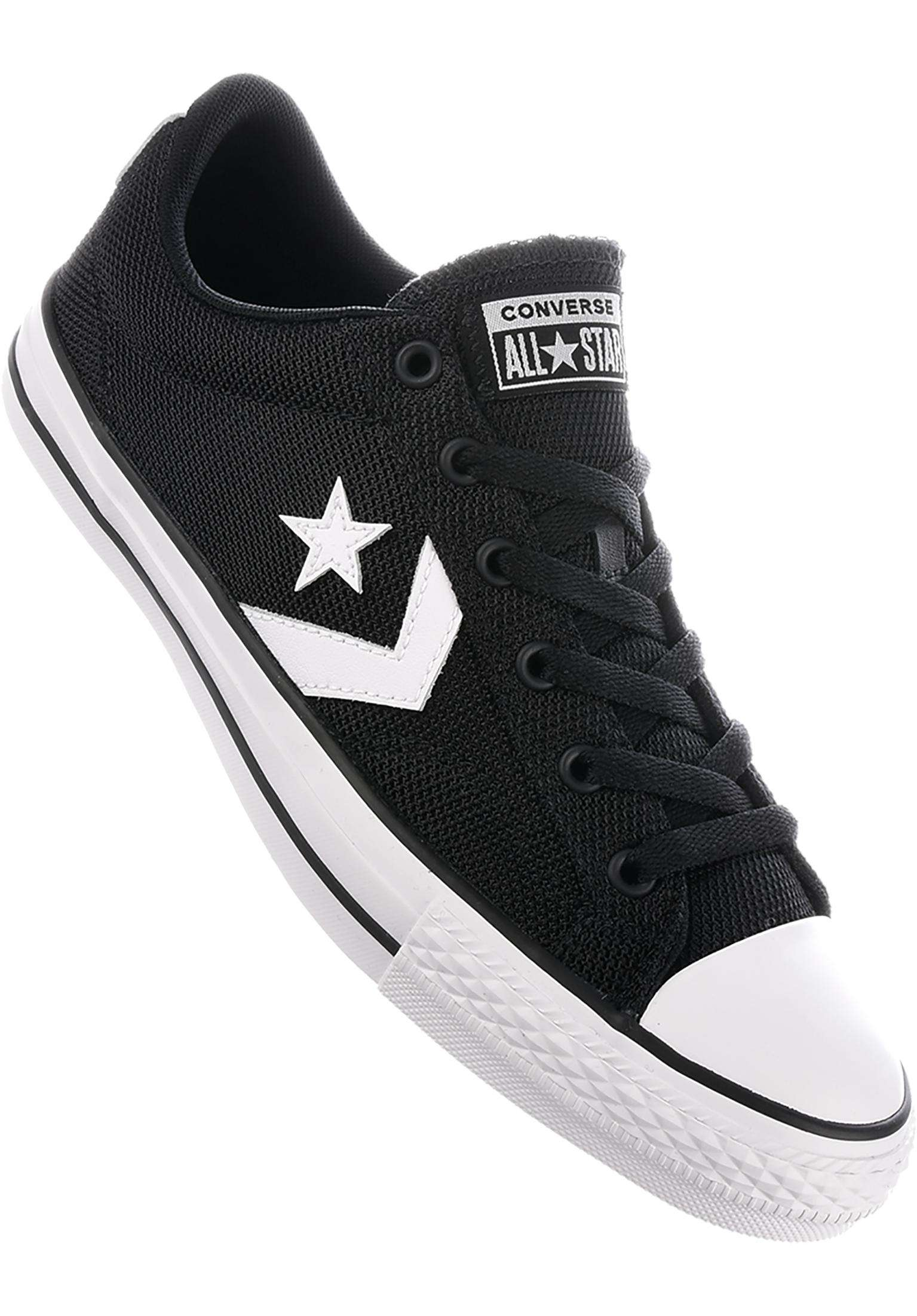 c8db85417962 ... sale star player ox converse cons all shoes in black white black for  men titus 45f2a