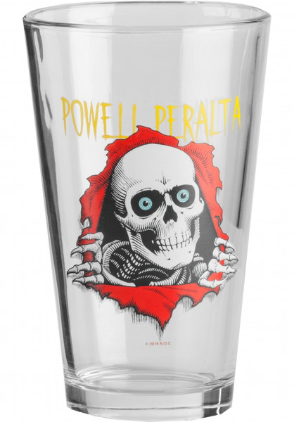 Powell-Peralta Verschiedenes Ripper Pint Glass clear Vorderansicht