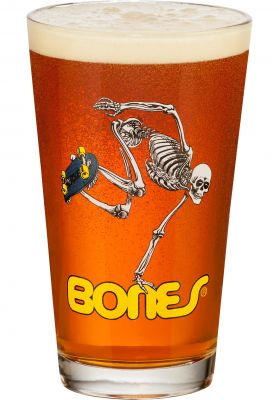 Powell-Peralta Skateboard Skeleton Pint Glass