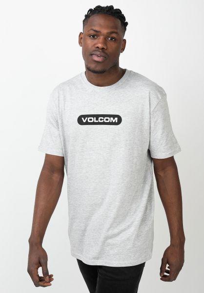 Volcom T-Shirts New Euro heathergrey vorderansicht 0321573