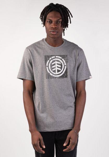 Element T-Shirts Driftwood greyheather vorderansicht 0399810
