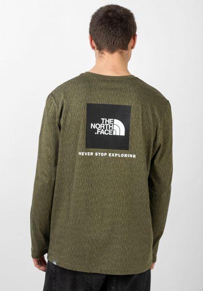 The North Face Hemden langarm Red Box burntolive-greenraincamoprint vorderansicht 0411992