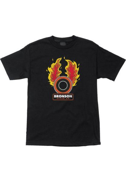 Bronson Speed Co. T-Shirts Speed Flames black vorderansicht 0399501