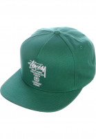 Stüssy Caps World Tour teal Vorderansicht