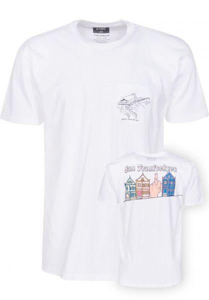 Altamont T-Shirts San Fran white Vorderansicht