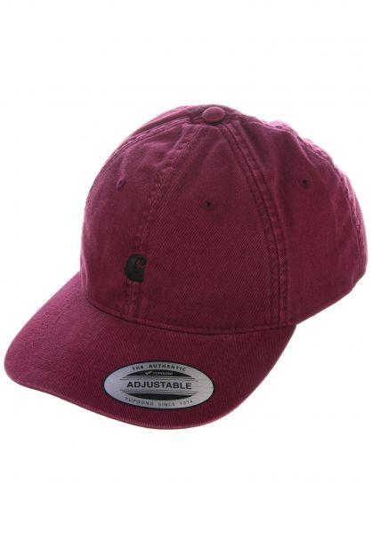 Carhartt WIP Caps Madison Logo Cap shiraz-black vorderansicht 0565940