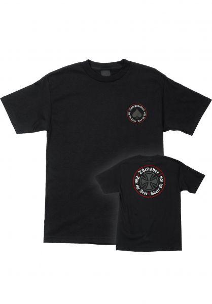 Independent T-Shirts Thrasher Oath S/S Independent black vorderansicht 0399023