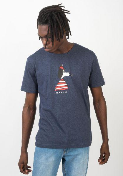 Makia T-Shirts Seadog navy vorderansicht 0320707