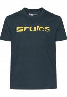 Rules T-Shirts Basic denimblue Vorderansicht
