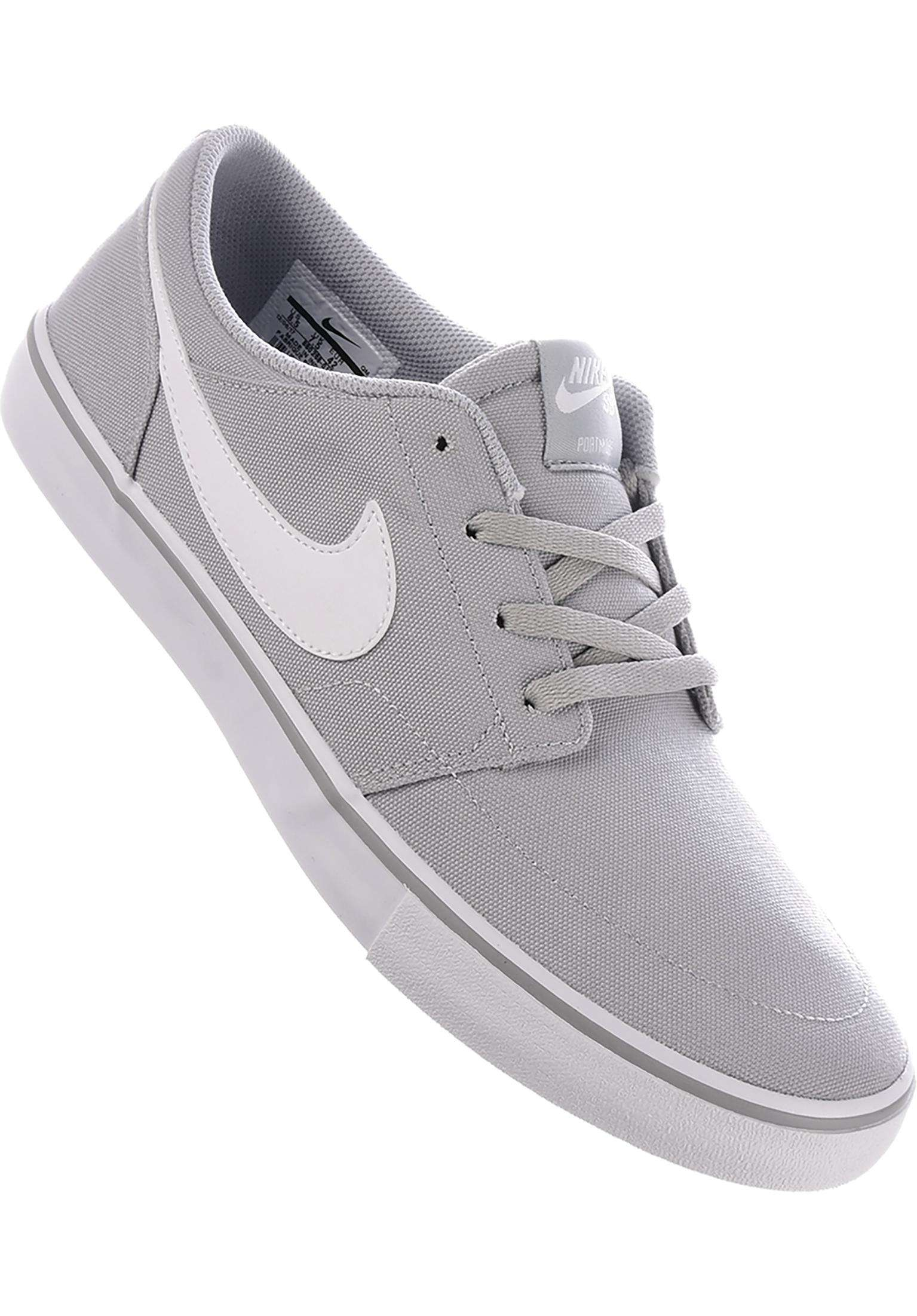 new product bcacb 08bec Solarsoft Portmore II CNVS Nike SB All Shoes in wolfgrey-white for Men    Titus